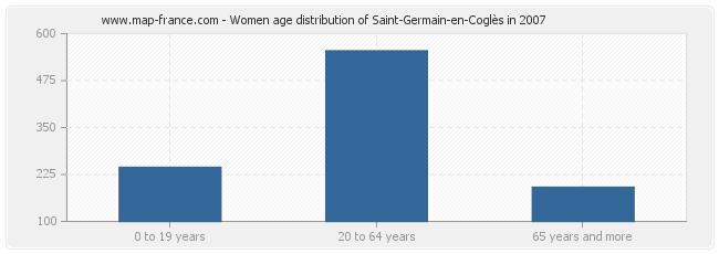 Women age distribution of Saint-Germain-en-Coglès in 2007