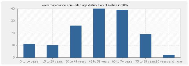 Men age distribution of Gehée in 2007