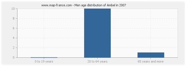 Men age distribution of Ambel in 2007