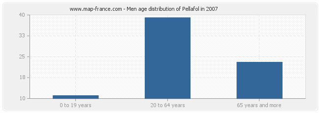Men age distribution of Pellafol in 2007