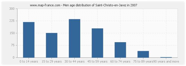 Men age distribution of Saint-Christo-en-Jarez in 2007