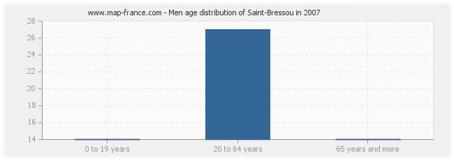 Men age distribution of Saint-Bressou in 2007