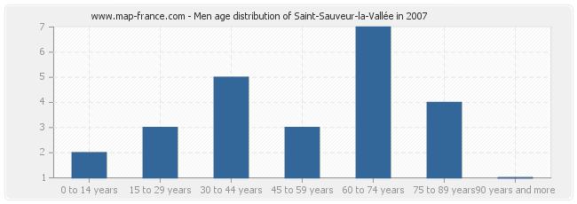 Men age distribution of Saint-Sauveur-la-Vallée in 2007