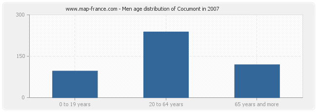 Men age distribution of Cocumont in 2007