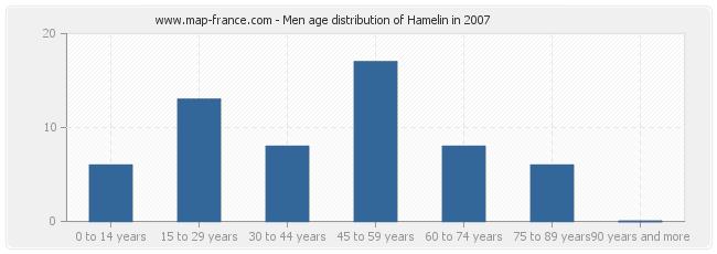 Men age distribution of Hamelin in 2007