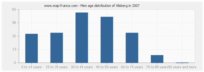 Men age distribution of Vilsberg in 2007