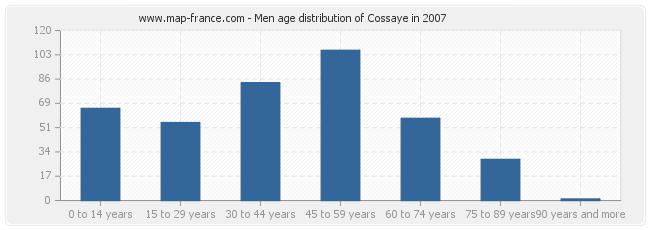 Men age distribution of Cossaye in 2007