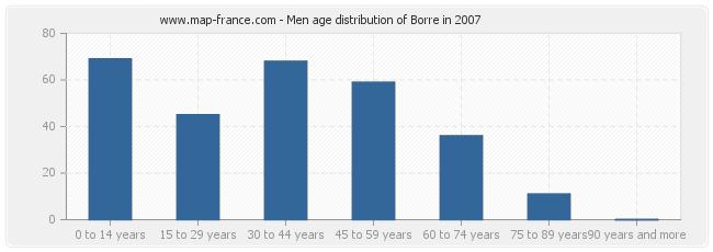 Men age distribution of Borre in 2007