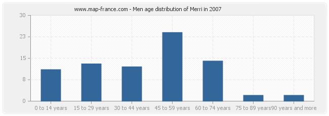 Men age distribution of Merri in 2007