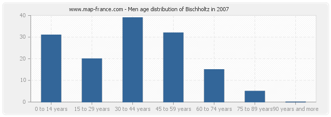 Men age distribution of Bischholtz in 2007