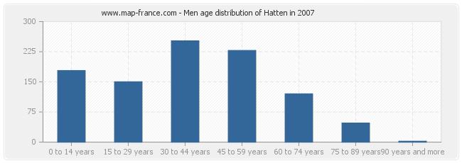 Men age distribution of Hatten in 2007