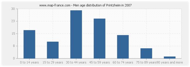 Men age distribution of Printzheim in 2007