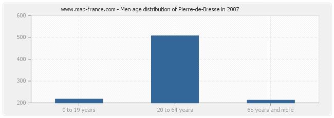 Men age distribution of Pierre-de-Bresse in 2007
