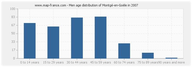 Men age distribution of Montgé-en-Goële in 2007