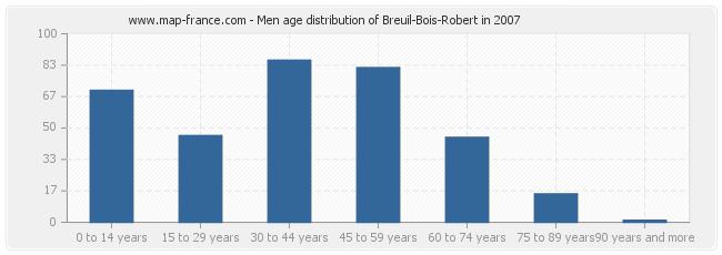 Men age distribution of Breuil-Bois-Robert in 2007