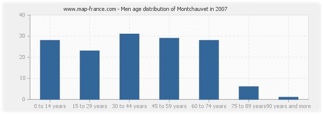 Men age distribution of Montchauvet in 2007