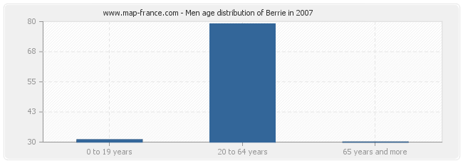 Men age distribution of Berrie in 2007