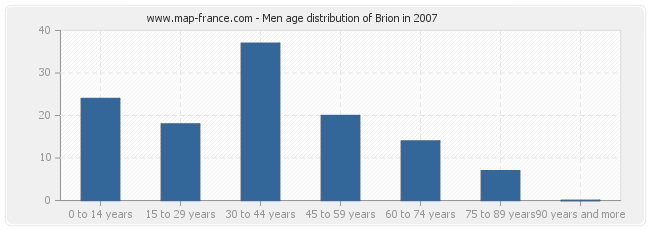 Men age distribution of Brion in 2007