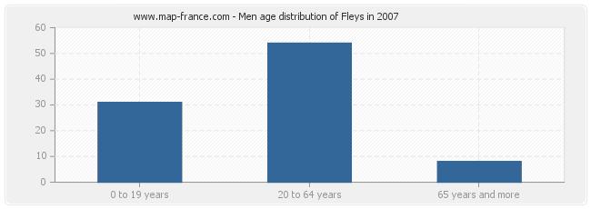 Men age distribution of Fleys in 2007