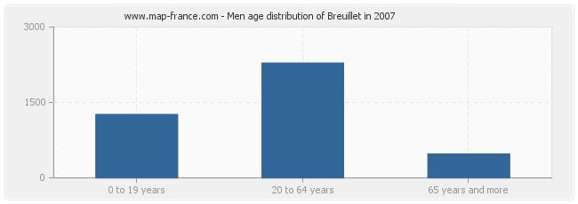 Men age distribution of Breuillet in 2007