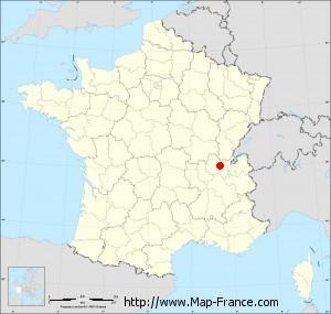 Small administrative base map of Mérignat