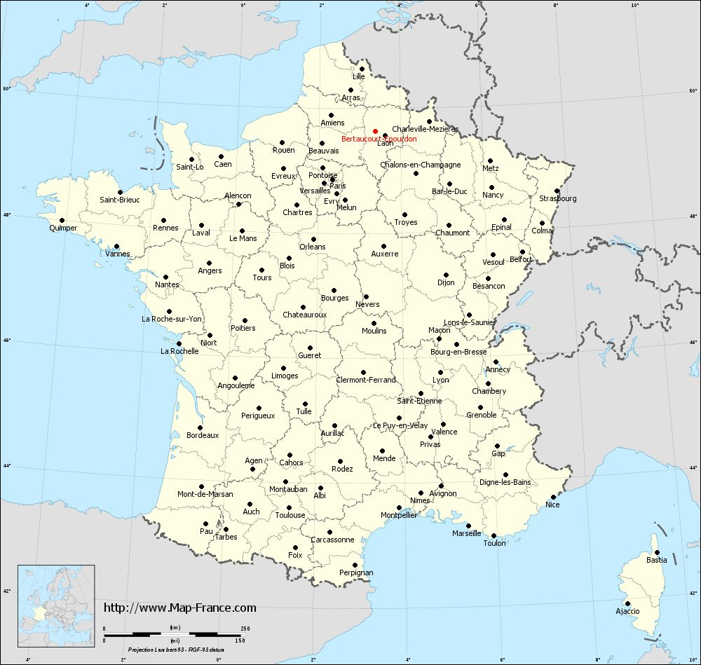 Administrative map of Bertaucourt-Epourdon
