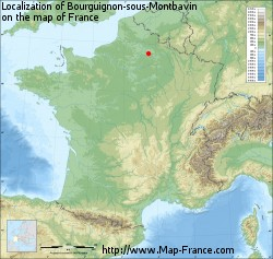 Bourguignon-sous-Montbavin on the map of France