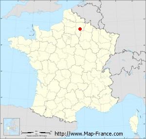 Small administrative base map of Nouvion-le-Vineux