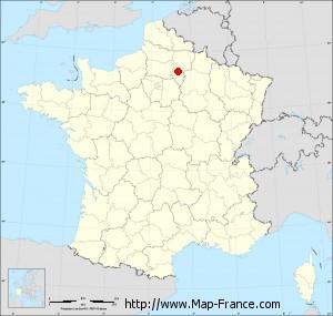 Small administrative base map of Rozières-sur-Crise
