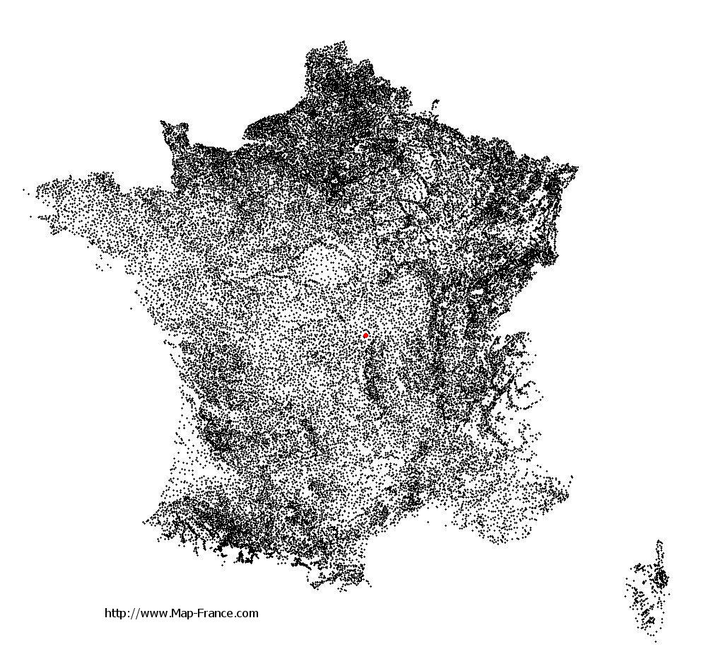 Tronget on the municipalities map of France
