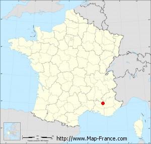 Small administrative base map of Banon