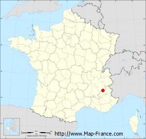 Small administrative base map of Chauffayer