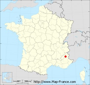 Small administrative base map of Réallon