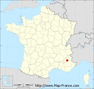 Small administrative base map of Rochebrune