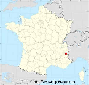 Small administrative base map of Saint-Chaffrey