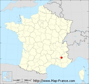 Small administrative base map of Saint-Genis