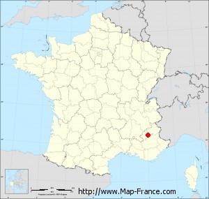 Small administrative base map of Tallard