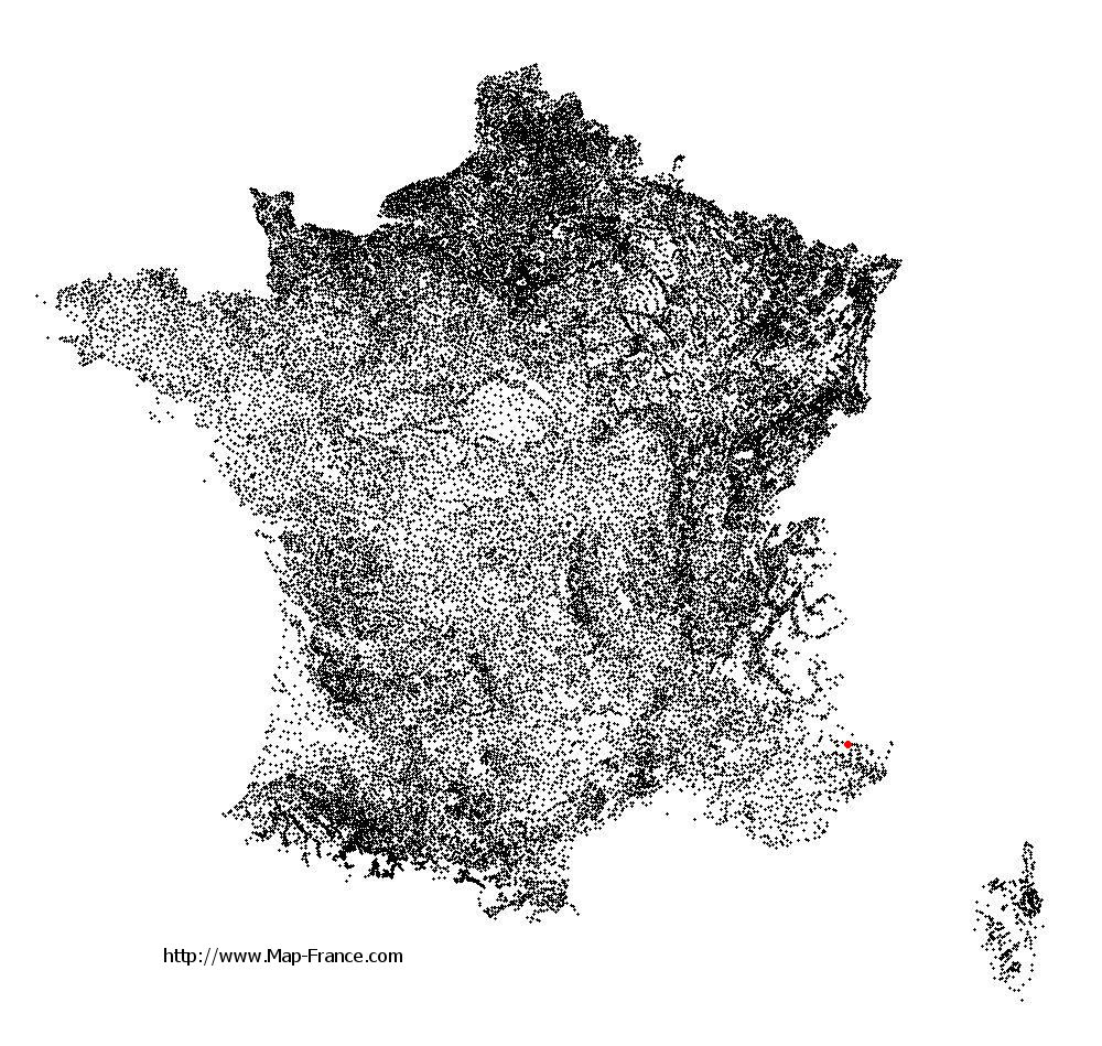 Beuil on the municipalities map of France
