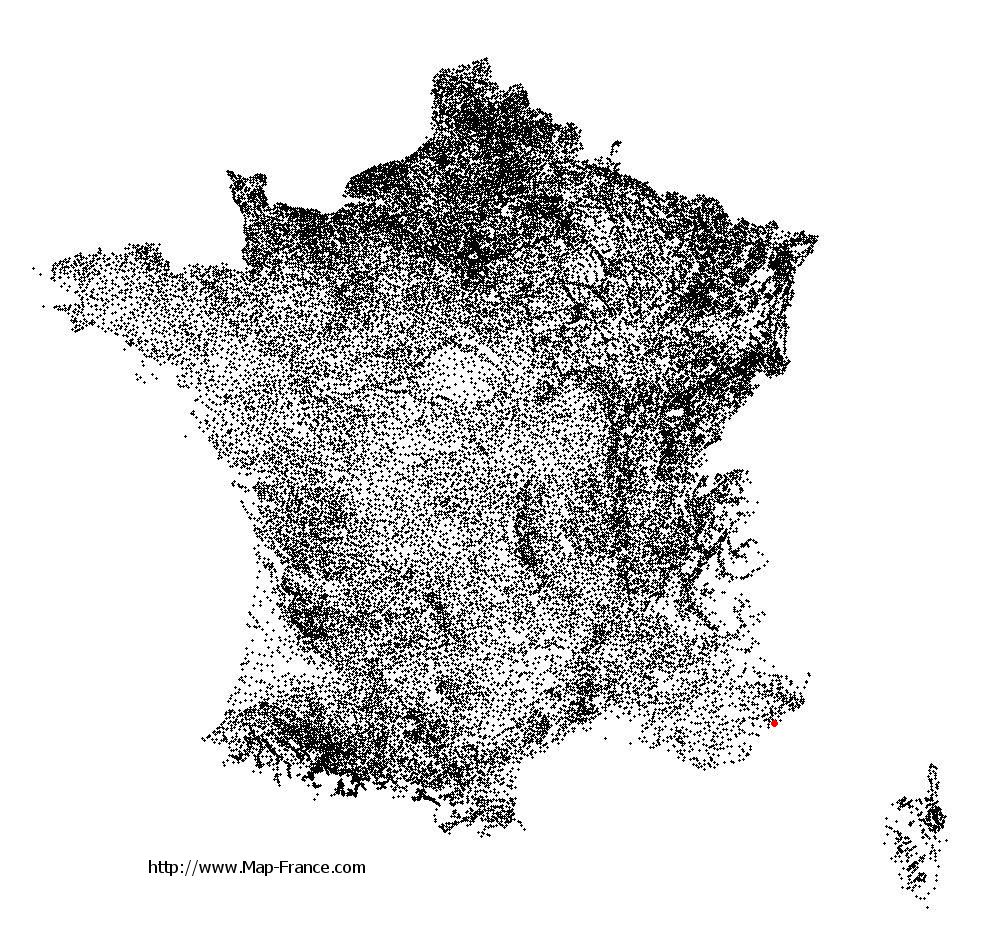 Cannes on the municipalities map of France