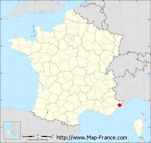 Small administrative base map of Châteauneuf-Villevieille