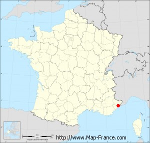 Small administrative base map of Tourrette-Levens