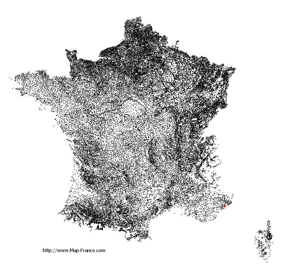 Villeneuve-Loubet on the municipalities map of France