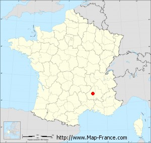Small administrative base map of Privas