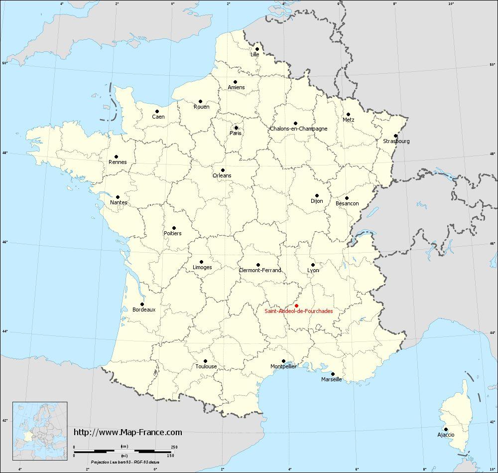 Carte administrative of Saint-Andéol-de-Fourchades