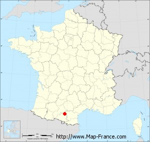 Small administrative base map of Gaudiès