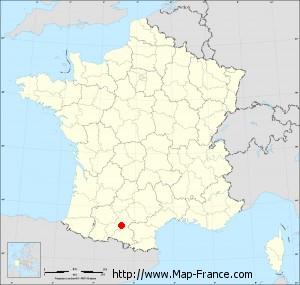 Small administrative base map of Lézat-sur-Lèze