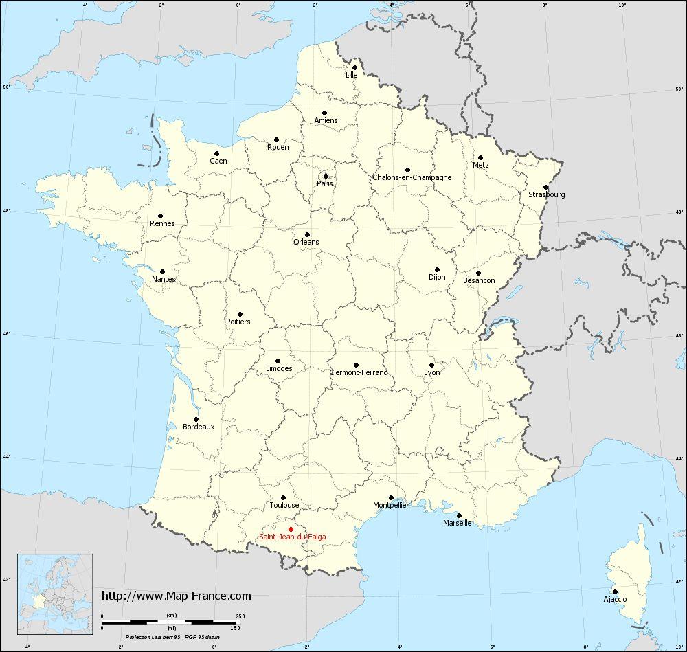 Carte administrative of Saint-Jean-du-Falga
