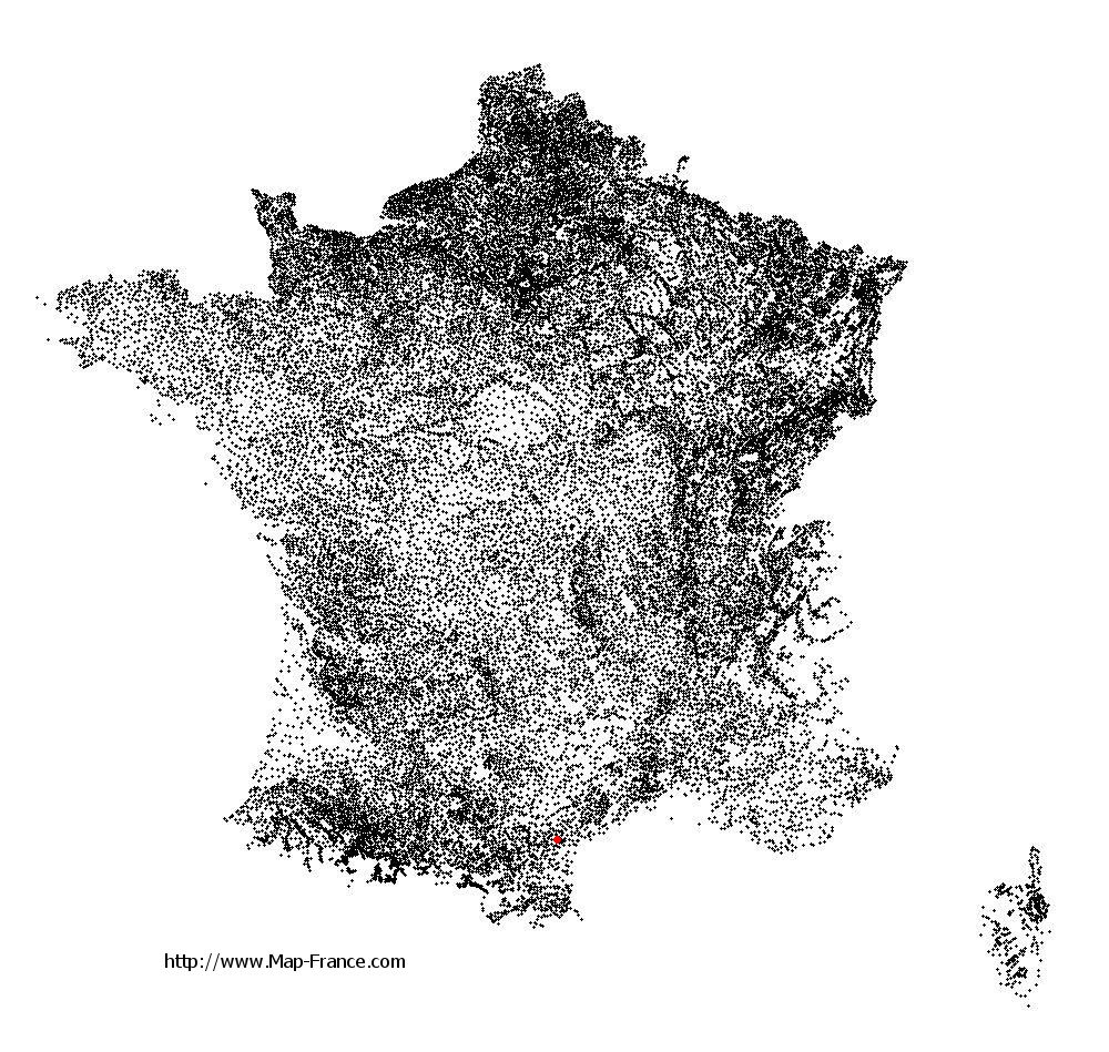 Paraza on the municipalities map of France