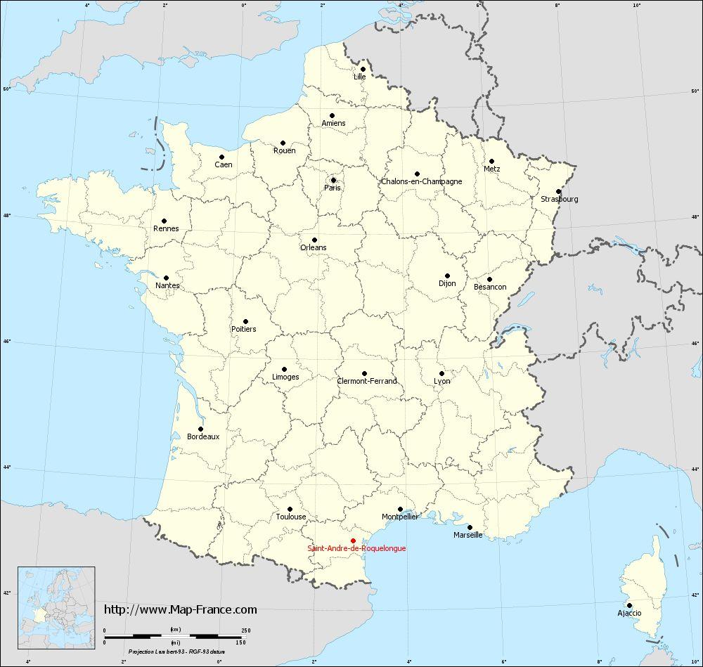 Carte administrative of Saint-André-de-Roquelongue