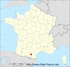 Small administrative base map of Tréziers
